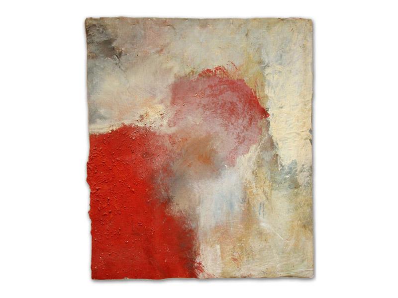 autoportrait - émulsion huile/acrylique/pigment & pierre calcaire/toile libre - env. 160/140 cm (Collection particulière)