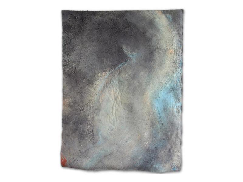 enceinte - émulsion huile/acrylique/pigment & pierre calcaire/toile libre - env. 200/150 cm