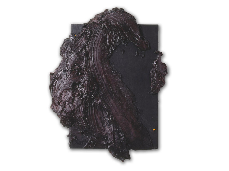 débord 1 - acrylique & huile/toile - 125/95 cm (Collection particulière)