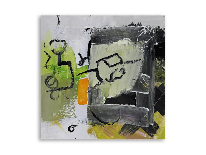 névralgie 11 - technique mixte//bois - 37/37 cm