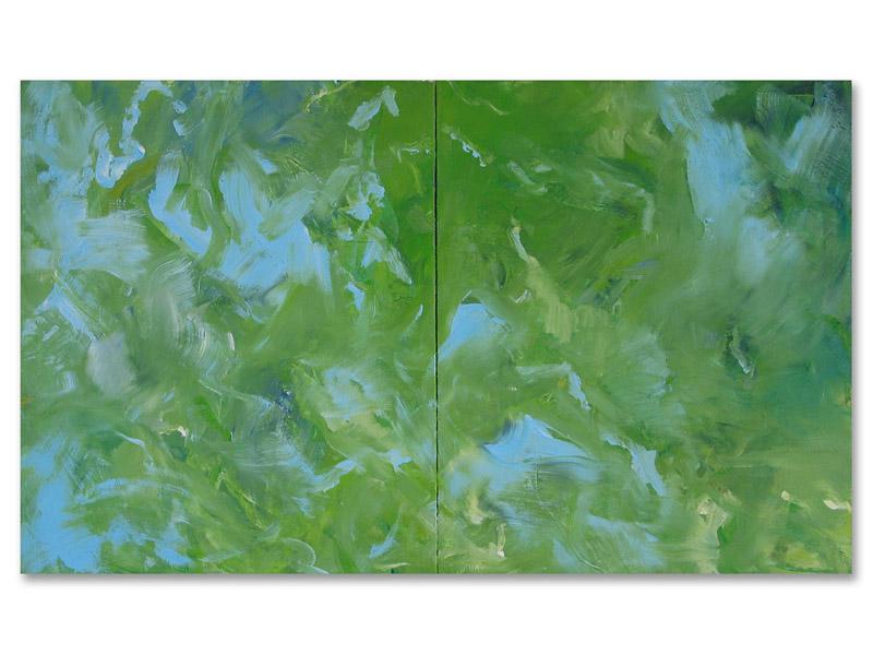 chloros 2 - acrylique/toile - diptyque - 120/200 cm