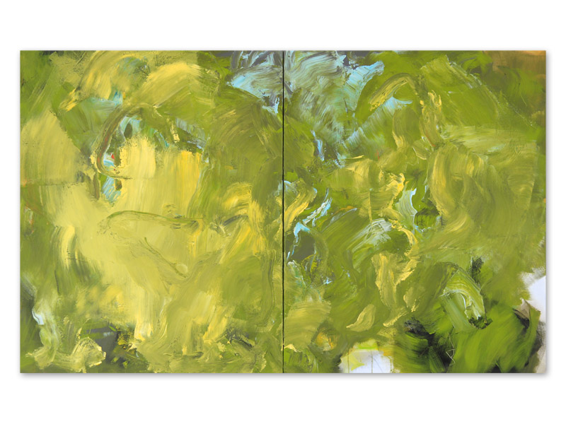 chloros 8 - acrylique/toile - diptyque - 100/160 cm